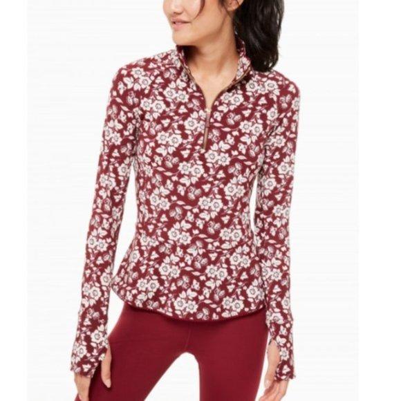 KATE SPADE Floral Active Jacket Half Zip Whimsy